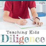 Encouraging Diligent Behavior + Bible Verse Copywork Pages for August