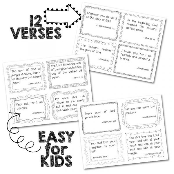 Scripture Memory Cards for Kids