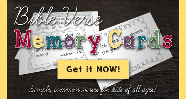 Free Scripture memory cards for kids