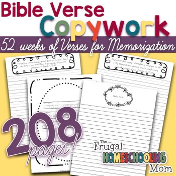 Bible Verse Copywork Pages for a whole year BUNDLE by TFHSM s2