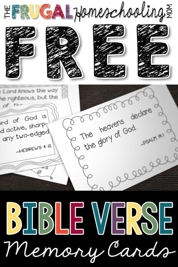 FREE Bible Verse printable Memory Cards for Kids