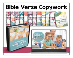 Bible Verse Copywork Pages from TFHSM