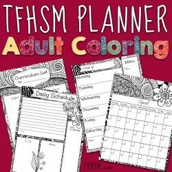 Adult Coloring TFHSM Planner