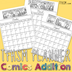 Comic Strip TFHSM Planner 2016