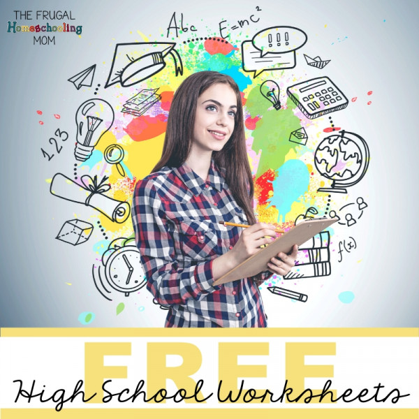 Frugal and FREE Homeschool Worksheets High School Collection
