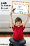 Prop Signs for Homeschool Back-to-School Photos