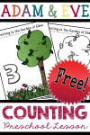 Adam and Eve Preschool Counting Lesson