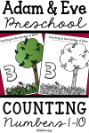 Adam and Eve Preschool Numbers 1-10 Counting Lesson