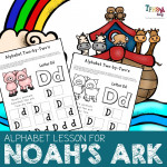 Noah's Ark Alphabet Lesson for Preschool: 2-by-2 Letter Matching