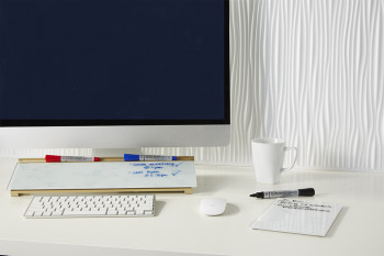 desktop dry erase pad with pencil holder organization