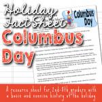 Columbus Day Fact Sheets for kids copyright TFHSM s