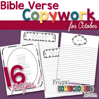 Bible Verse Copywork Pages for October: Persecution