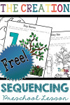 Free Preschool Lesson The Story of Creation Story Sequencing