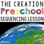 The Creation Preschool Bible Lesson