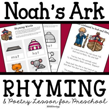 Noah's Ark Preschool Poetry and Rhyming Lesson